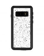 White Speckle Galaxy S10 Waterproof Case