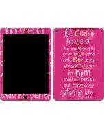 John 3:16 in Pink Apple iPad Air Skin