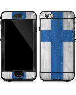 Finland Flag Distressed LifeProof Nuud iPhone Skin