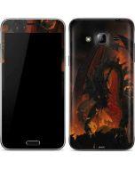 Fireball Dragon Galaxy J3 Skin