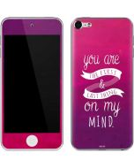 First And Last Thing On My Mind Pink Apple iPod Skin