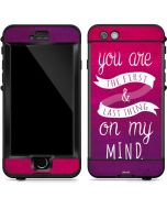 First And Last Thing On My Mind Pink LifeProof Nuud iPhone Skin