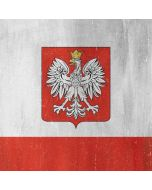 Poland Flag Distressed Apple iPod Skin