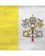 Vatican City Flag Distressed Apple iPad Skin