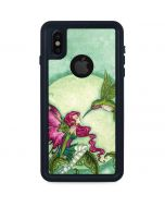 Flirting Fairy and Hummingbird iPhone XS Waterproof Case