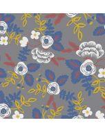 Autumn Grey Floral Amazon Echo Skin