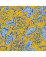 Mustard Yellow Floral Print Amazon Echo Skin