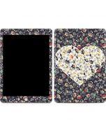 Floral Heart Apple iPad Skin