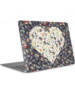 Floral Heart Apple MacBook Air Skin