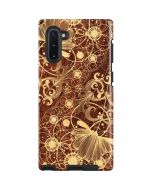 Floral Wood Mahogany Galaxy Note 10 Pro Case