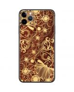 Floral Wood Mahogany iPhone 11 Pro Max Skin