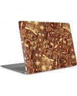 Floral Wood Mahogany Apple MacBook Air Skin