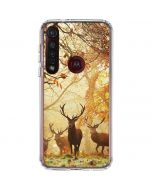 Four Red Deer Moto G8 Plus Clear Case
