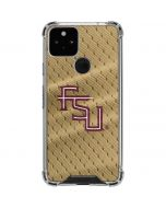 FSU Gold Print Google Pixel 5 Clear Case