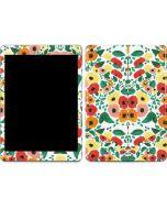 Geometric Flowers Apple iPad Skin