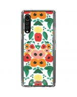 Geometric Flowers LG Velvet Clear Case