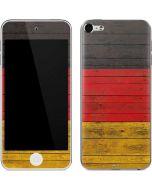 German Flag Dark Wood Apple iPod Skin