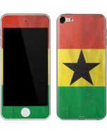 Ghana Flag Distressed Apple iPod Skin