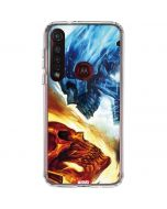 Ghost Rider Collision Course Moto G8 Plus Clear Case