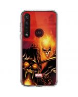 Ghost Rider Drags Chain Moto G8 Plus Clear Case