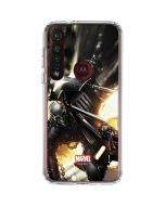 Ghost Rider Wall Ride Moto G8 Plus Clear Case