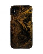 Gold and Black Marble iPhone XS Max Lite Case