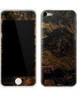 Gold and Black Marble Apple iPod Skin