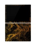 Gold and Black Marble Surface Pro 7 Skin