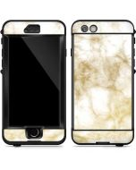 Gold and White Marble LifeProof Nuud iPhone Skin