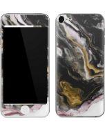 Gold Blush Marble Ink Apple iPod Skin