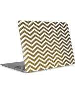 Gold Chevron Apple MacBook Air Skin