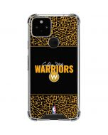 Golden State Warriors Elephant Print Google Pixel 5 Clear Case