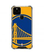 Golden State Warriors Large Logo Google Pixel 5 Clear Case