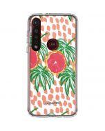 Graphic Grapefruit Moto G8 Plus Clear Case