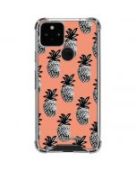 Gray Scale Pineapple Google Pixel 5 Clear Case