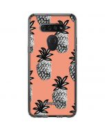 Gray Scale Pineapple LG K51/Q51 Clear Case