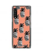 Gray Scale Pineapple LG Velvet Clear Case