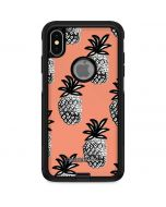 Gray Scale Pineapple Otterbox Commuter iPhone Skin