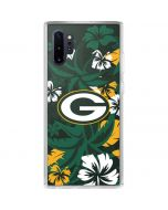 Green Bay Packers Tropical Print Galaxy Note 10 Plus Clear Case