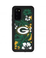 Green Bay Packers Tropical Print Galaxy S20 Waterproof Case