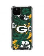 Green Bay Packers Tropical Print Google Pixel 5 Clear Case