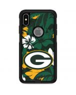 Green Bay Packers Tropical Print Otterbox Commuter iPhone Skin