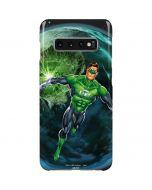 Green Lantern in Space Galaxy S10 Plus Lite Case