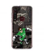 Green Lantern Mixed Media Moto G8 Plus Clear Case