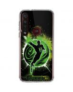 Green Lantern Stars Moto G8 Plus Clear Case
