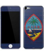 Guam Flag Dark Wood Apple iPod Skin