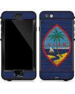 Guam Flag Dark Wood LifeProof Nuud iPhone Skin