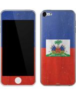 Haitian Flag Distressed Apple iPod Skin
