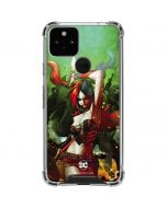 Harley Quinn Fighting Google Pixel 5 Clear Case