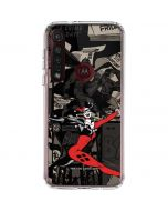 Harley Quinn Mixed Media Moto G8 Plus Clear Case